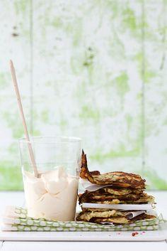 Zucchini Potato Pancakes via Cannelle et Vanille