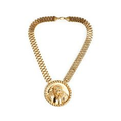 trilla the rilla necklace ($125) ❤ liked on Polyvore featuring jewelry, necklaces, gold plated chain necklace, medallion necklace, chain necklaces, medallion jewelry and gold plated jewelry