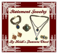 """Statement Jewelry"" by heidi-calamia-galati ❤ liked on Polyvore featuring vintage"