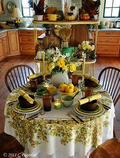 Fiestaware Tablescape- Fall