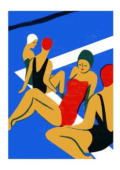 Dive Head First into Illustrator Virginie Morgand's Inky Blue Pool PrintsAIGA Eye on Design | AIGA Eye on Design