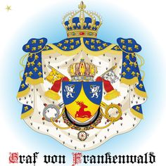 ★ GRAF VON FRANKENWALD ADELSTITEL URKUNDE HERZOG BARON FREIHERR WAPPEN DOKTOR ★