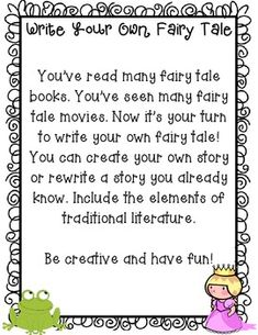 Fairy Tale Newspaper Article Creative Writing Template
