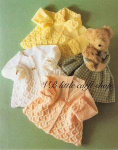 Matinee coats knitting pattern. Instant PDF download! by VBlittlecraftshop on Etsy