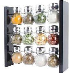 12-Piece Jar Spice Rack Set