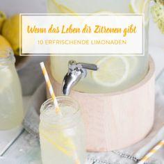 Limonade selber machen - Grundrezept für klassische Zitronenbrause