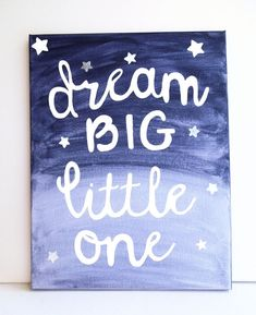 Dream Big Little One Navy Nursery Art Navy by LilysNurseryShop