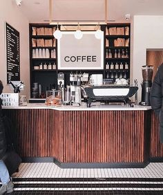 Home Decoration For Small House Cute Coffee Shop, Coffee Shop Bar, Coffee Shop Design, Cafe Design, Design Design, Coffee Shop Aesthetic, Cafe Counter, Coffee Snobs, Coffee Barista