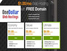Godaddy One Dollar Web Hosting powers the world largest cloud dedicated platform to small, independent ventures. One Dollar Web Hosting  providing you Hosting solution at money saving deals & discount. With the help of web hosting you can set your own online business.  One Dollar CPanel Web Hosting provides you the place where you can get your ideas.