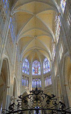 St. Ouen de Rouen, beautiful Gothic church in Rouen, France.