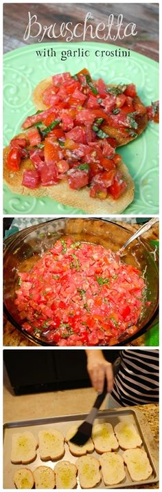 Bruschetta with garlic crostini