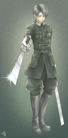 Levi (Rivaille) || I wonder if that's really a uniform of some country but where? ( I think Germany?)