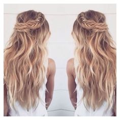 Stunning Braids with Cashmere Hair ❤ liked on Polyvore featuring hair, hairstyles and hair styles