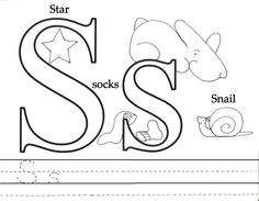 """Free Preschool Printables. The letter """"S"""". Perfect to reinforce a lesson."""