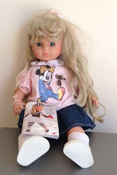 "RARE Vintage Zapf Creations MISS DISNEY 17"" Doll WOOLWORTHS Exclusive 1987 