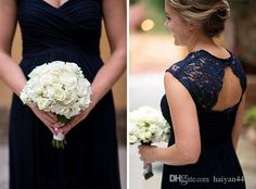 2017 New Bridesmaid Dresses Sweetheart Navy Blue Chiffon Lace Appliques Custom Long Hollow Back For Wedding Guest Dress Maid of Honor Gowns Long Bridesmaids Dresses 2017 Bridesmaid Dresses Lace Bridesmaid Dress Online with $101.72/Piece on Haiyan4419's Store | DHgate.com