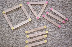 Velcro lolly stick shape makers- can also write words on them and use for other activities (matching, similar sounds, vowels....)