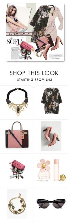 """""""spring effect"""" by bonadea007 ❤ liked on Polyvore featuring MSGM, Kurt Geiger, Seychelles, Marc Jacobs, La Mer, Selima Optique and Wintertospring"""