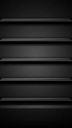 Black, App Shelf, Picture
