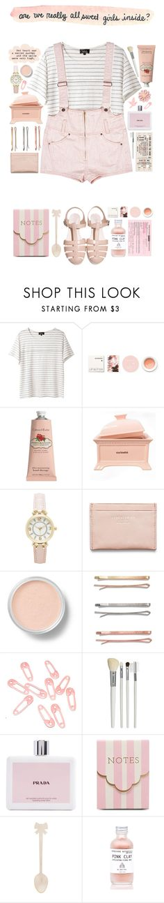 """""""Are we really all sweet girls inside?"""" by steptyn ❤ liked on Polyvore featuring A.P.C., Korres, Crabtree & Evelyn, Forever New, Acne Studios, Aerie, Bare Escentuals, Madewell, Punky Pins and Cath Kidston"""