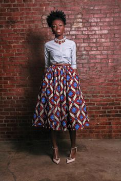 Etsy Transaction - NEW The Shavon -African Print Holland Wax Cotton Midi Skirt African Inspired Fashion, African Print Fashion, Ethnic Fashion, I Love Fashion, Fashion Prints, African Prints, African Attire, African Dress, Long African Skirt