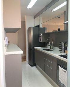 Interior Living Room Design Trends for 2019 - Interior Design Modern Kitchen Cabinets, Kitchen Furniture, Kitchen Decor, Home Room Design, Home Design Plans, New Kitchen Interior, Industrial Home Design, Contemporary Kitchen Design, Custom Kitchens