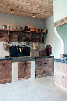 Handmade Rustic & Southwestern Decor - Rustic Home Decor - Rustic Kitchen, Country Kitchen, Kitchen Decor, Küchen Design, House Design, Interior Design, Primitive Homes, Rustic Interiors, Kitchen Interior