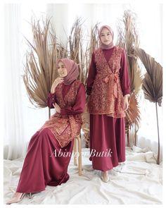 Dress Muslim Modern, Dress Brokat Modern, Kebaya Modern Dress, Kebaya Dress, Dress Pesta, Muslim Dress, Dress Brukat, Hijab Dress Party, Hijab Style Dress