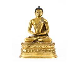 Buda em bronze gilded a ouro do sec.19th, 29cm de altura, 7,240 USD / 6,740 EUROS / 27,490 CHINESE YUAN soulcariocantiques.tictail.com