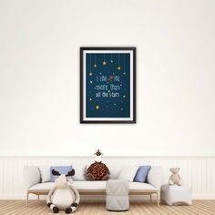 Love You More Than All The Stars Nursery Print, Nursery Art, Instant Download Printable Nursery Art, Nursery Wall Art, Room Art, Baby Print, Baby Prints, Nursery Prints, Nursery Wall Art, Nursery Decor, Star Nursery, Love You More Than, Kids Room, Poster Prints, Room Art