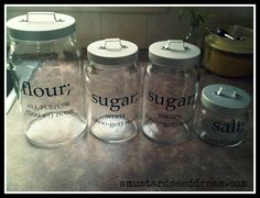 Canister Labels  Farmhouse Chic  Vinyl Wall by MustardSeedDream, $12.49