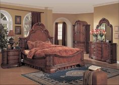 5 Piece Acme Versailles Bone White Panel bedroom Set This ...