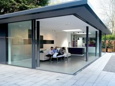 See the UK's largest purpose built residential architectural glazing showroom in the UK, offering architects and designer's multiple architectural glazing options. House Extension Plans, House Extension Design, Glass Extension, Extension Designs, Extension Ideas, Skylight Design, Ceiling Design, Corner Bifold Doors, Sliding Doors