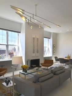 Love the Lighting fixtures and lamps in this room!! Contemporary Living Rooms from Joelle Nesen : Designers' Portfolio 6499 : Home & Garden Television