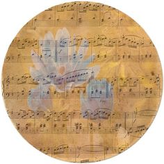Floral Melody Antique Sheet Music Design Clocks and more. Music and Flowers, a perfect combination for inspiration! I welcome you to click through to visit my shop and see my designs. Have a wonderful day on this beautiful planet earth!