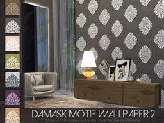 The Sims Resource: Damask Motif  Wallpaper 2 by Rirann • Sims 4 Downloads