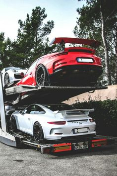 Porsche's all stacked up.