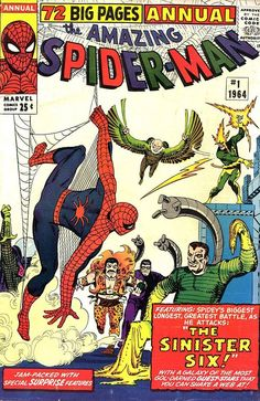 5304_828245677200648_9130922319513120024_n.jpg (624×960) via Comic Book Critic Amazing Spider-Man Annual #1 (1964) cover by Steve Ditko.
