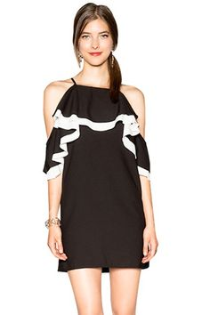 Off-The-Shoulder Ruffles Dress