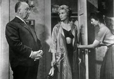 vintage everyday: Rare Behind-the-Scenes Photos of Alfred Hitchcock and the Making of Horror Film 'Psycho' (1960)