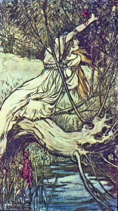 Arthur Rackham ~ To This Brook Ophelia Came ~ from Tales from Shakespeare by Charles and Mary Lamb ~ 1909