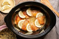 Slow Cooker Lemon Pepper Chicken Thighs Lemon Pepper Chicken Thighs – The Magical Slow Cooker Slow Cooked Meals, Crock Pot Cooking, Slow Cooker Recipes, Crockpot Recipes, Chicken Recipes, Cooking Recipes, Crockpot Dishes, Skillet Recipes, Freezer Cooking