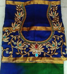 The Best blouse designs Best Blouse Designs, Sari Blouse Designs, Bridal Blouse Designs, Blouse Patterns, Blouse Styles, Maggam Work Designs, Indian Blouse, Indian Sarees, Back Neck Designs