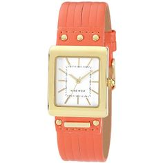 WomenS Peach Square Dial Watch ($77) ❤ liked on Polyvore
