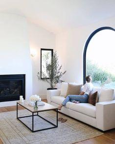 Home Interior Salas .Home Interior Salas Home Living Room, Living Room Decor, Living Spaces, White Couch Living Room, Small Living, Clean Living, Bright Living Rooms, Dining Room, Living Room Neutral