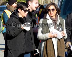 OnceUponATime stars Ginnifer Goodwin and Lana Parilla arrive at set today in Steveston to film a scene together (via canadagraphs)