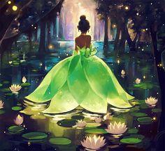 Princess and the Frog Princess Tiana Art (Bayou Princess by Xinwei Huang)