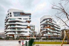 Комплекс апартаментов в Милане от Zaha Hadid Architects
