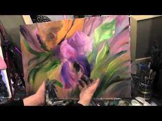 Пишем ирис. Художник Игорь Сахаров, уроки живописи для начинающих - YouTube
