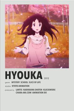 Hyouka minimal anime poster Animes To Watch, Anime Watch, Movie Prints, Poster Prints, Anime Suggestions, Anime Titles, Anime Reccomendations, Manga Anime, Otaku Anime